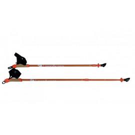 Палки для скандинавской ходьбы телескопические NordicPro Orange (оранжевые)
