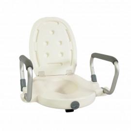 Насадка (сиденье) на унитаз с откидными ручками SC 717 (для инвалидов и пожилых)