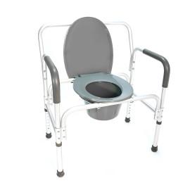Кресло-туалет повышенной грузоподъемности HMP-7007L (для инвалидов, полных людей)