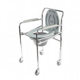 Кресло-туалет на колесах WC Mobail (складной санитарный стул - каталка)