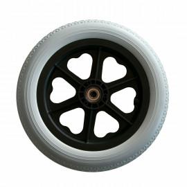 Колесо литое полиуретановое для инвалидной коляски заднее 12 pu (300 х 46 мм)
