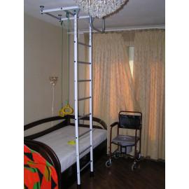 """Комплекс """"Опора"""" (опорная лестница из 3-х составляющих, потолочная рама, подвесные кольца-ручки на шнурах с фиксаторами)"""