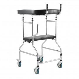 Ходунки-ролляторы регулируемые по высоте на 4-х колесах подлокотные Ortonica XR 203 с сиденьем
