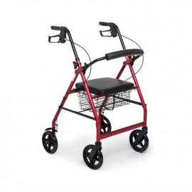 Ходунок-ролятор четырехколесный с сиденьем и корзиной FS 965 LH (инвалидные ходунки)