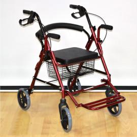 Ходунок-ролятор-каталка четырехколесный с сиденьем и корзиной PMR 888L (FS 965 LH) (универсальные)
