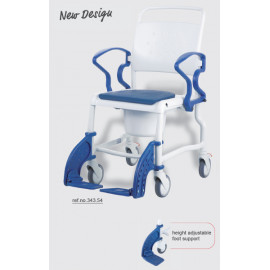"""Кресло-туалет (стул) с санитарным оснащением на колесах """"Бонн"""" (REBOTEC) арт. 343"""