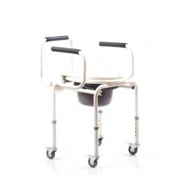Кресло-туалет для инвалидов Ortonica TU 80 с колесами (санитарный стул-каталка) TU8