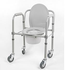 Кресло-туалет на колесах 10581Са (санитарный стул - каталка)