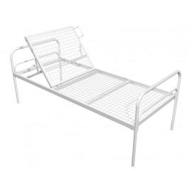 Кровать медицинская металлическая двухсекционная КМ-01