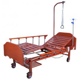 Кровать электрическая Med-Mos DB-7 (МЕ-2028Н-10) (2 функции) с матрасом и надкроватным столиком